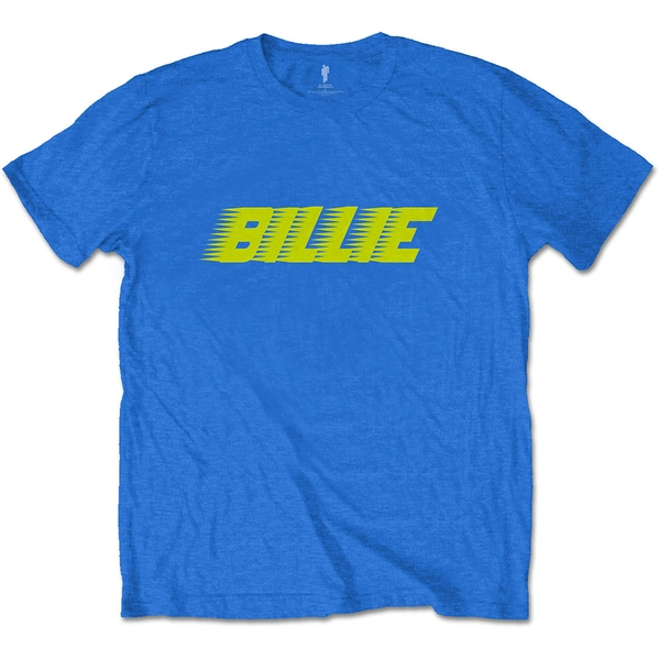 Billie Eilish - Racer Logo Unisex X-Large T-Shirt - Blue