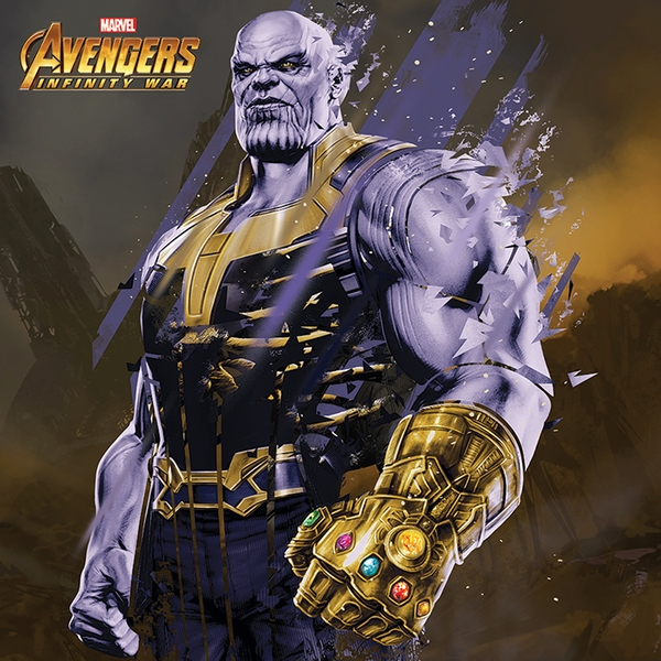 Avengers: Infinity War - Thanos Fragmented Canvas