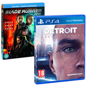 Detroit Become Human PS4 Game + Blade Runner 2049 Blu-Ray