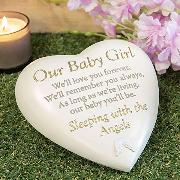 Thought Of You Graveside Heart Memorial - Our Baby Girl