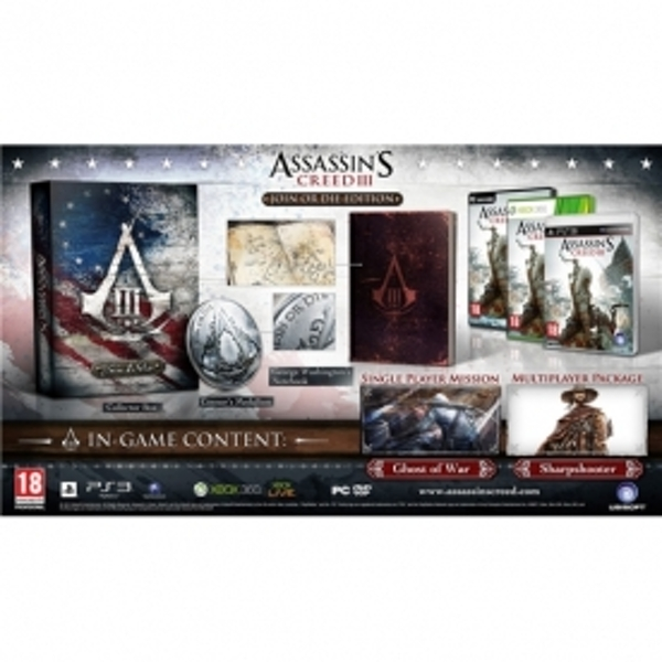 Assassin's Creed III 3 Join Or Die Edition PS3 Game - Image 2