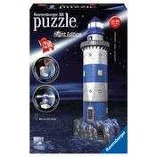 Lighthouse at Night 216 Piece 3D Jigsaw Puzzle