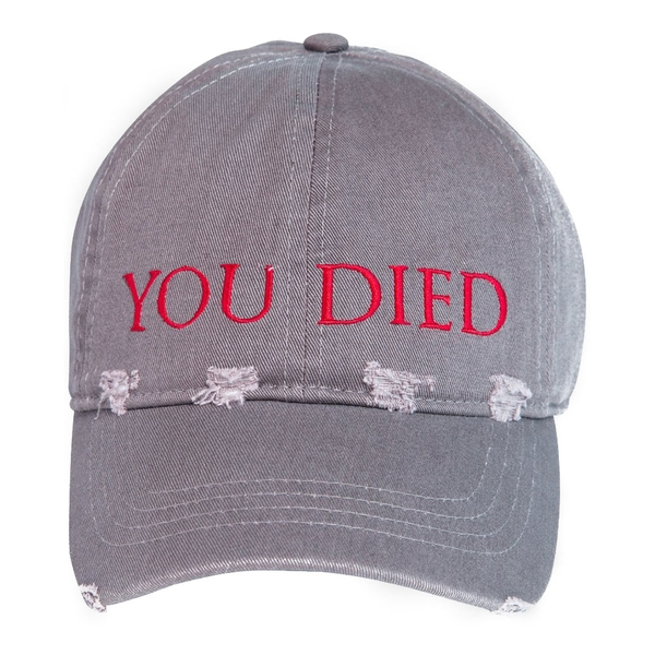 Dark Souls - You Died Destroyed Unisex Baseball Cap - Grey