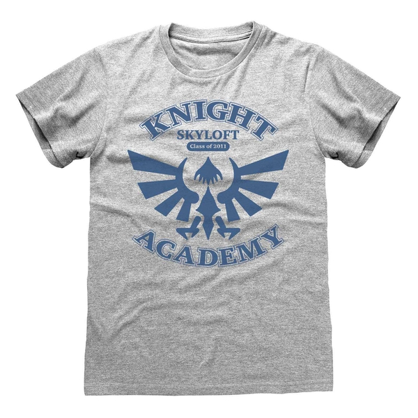 Legend Of Zelda - Knight Academy Unisex Medium T-Shirt - Grey