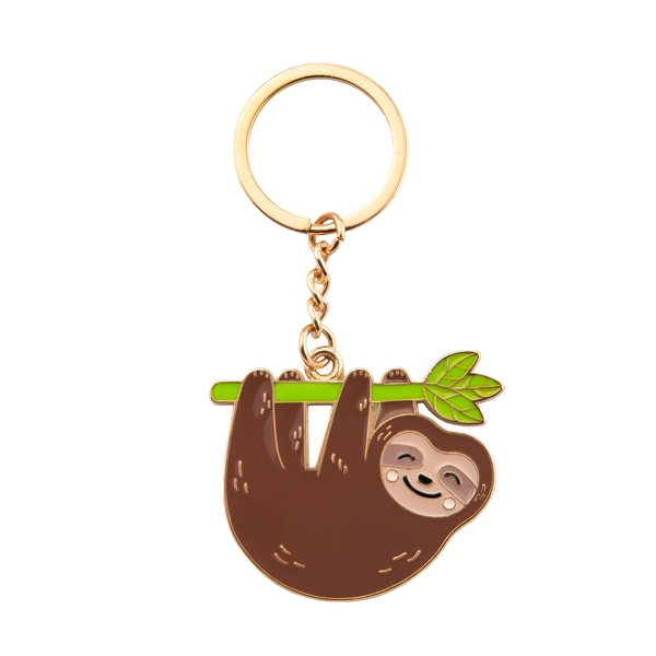 Sass & Belle Happy Sloth Enamel Keyring