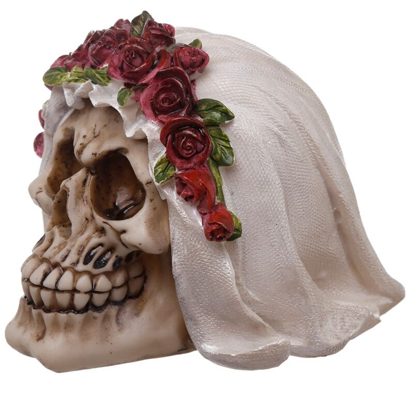 Gothic Wedding Day Skull Bride Ornament
