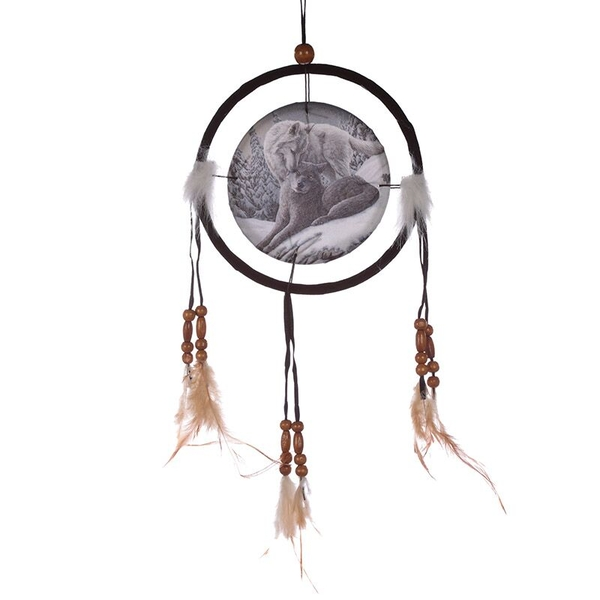 Wolf Snow Kisses 16cm Dreamcatcher