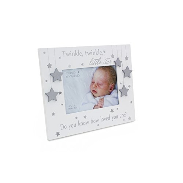 "5"" x 3.5"" - Twinkle Twinkle Silver Star Baby Photo Frame"