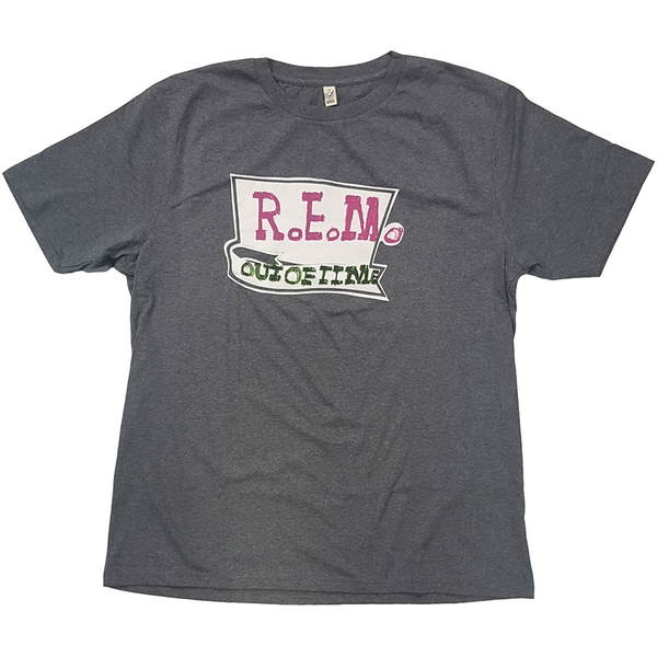 R.E.M. - Out Of Time Unisex Large T-Shirt - Grey