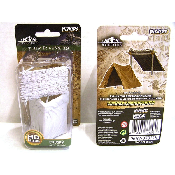 WizKids Deep Cuts Unpainted Miniatures - Tent & Lean-To