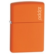 Zippo Logo Orange Matte Lighter
