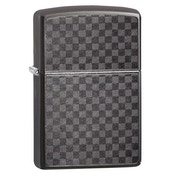 Zippo Iced Carbon Fibre Grey regular Windproof Lighter