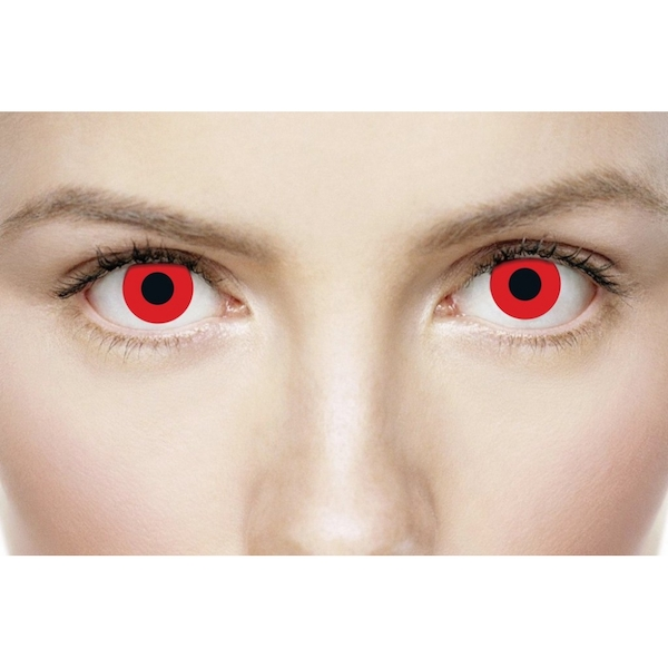 Bloody Red 1 Day Halloween Coloured Contact Lenses (MesmerEyez XtremeEyez) - Image 4