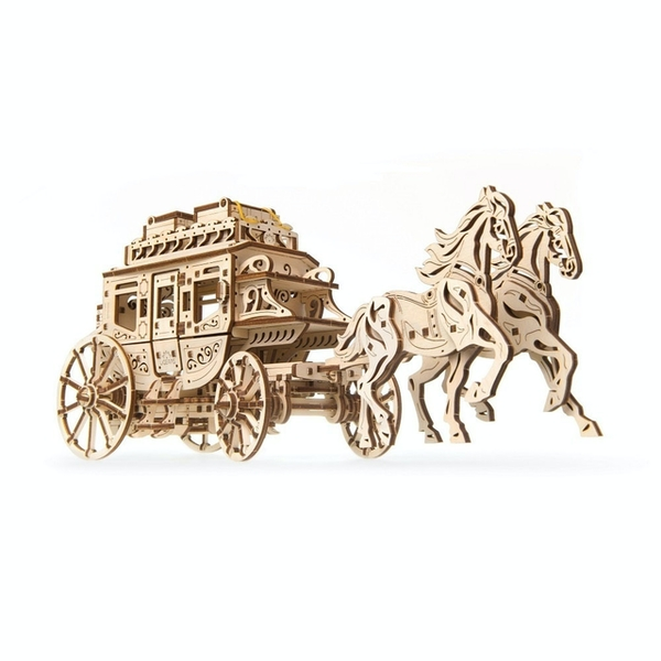 Stagecoach UGears 3D Wooden Model Kit