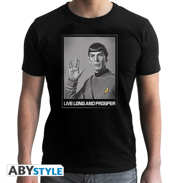 Star Trek - Spock Men's Small T-Shirt - Black