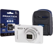 PRAKTICA Luxmedia Z212 White Camera Kit inc 8GB MicroSD Card & Case