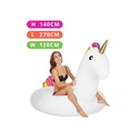 Giant 8FT Inflatable Unicorn Pool Float, Quick Inflation for Beach Holiday Leisure Active