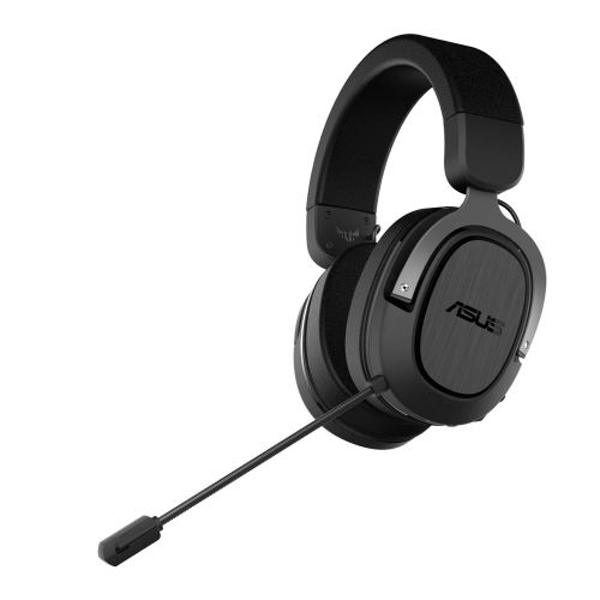 Asus Gaming H3 Wireless Gaming Headset, USB-C (USB-A Adapter), Boom Mic, Surround Sound, Deep Bass, Fast-cooling Ear Cushions, Gun Metal