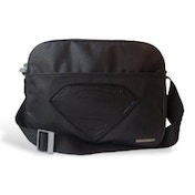 DC Comics Superman Man of Steel Black Messenger Bag