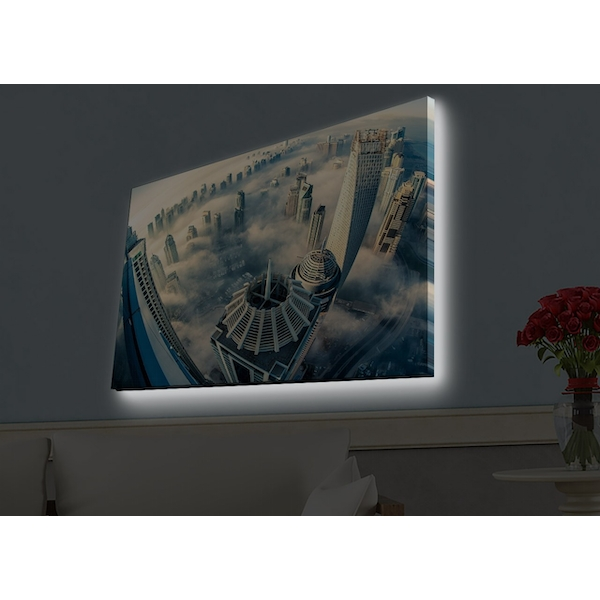 4570HDACT-061 Multicolor Decorative Led Lighted Canvas Painting