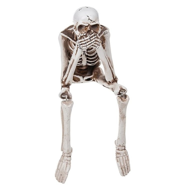 Funny Bone Skeleton Shelf Speak Ornament