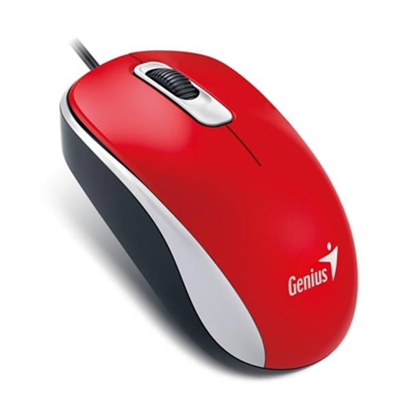 Genius DX-110 Red USB Full Size Optical Mouse - Image 1