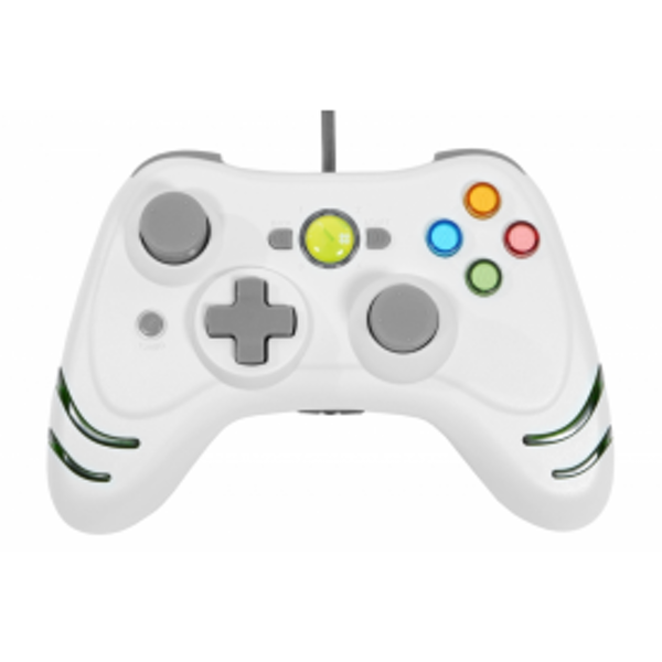 Datel Wildfire Wired Controller In White Xbox 360