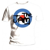 The Jam - Spray Target Logo Men's Small T-Shirt - White