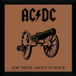 "AC/DC For Those About To Rock 12"" x 12"" Framed Album Cover - Image 2"