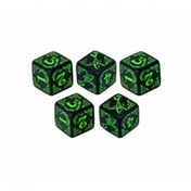 Arkham Horror Dice Set Black & Green