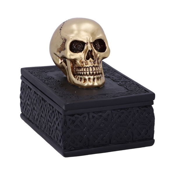 Celtic Opulence Skull Trinket Box