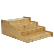 4 Tier Bamboo Spice Rack | M&W