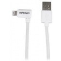 StarTech 2m Angled Lightning to USB Cable White