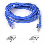 Belkin Cat5e Snagless UTP Patch Cable in Blue 0.5m