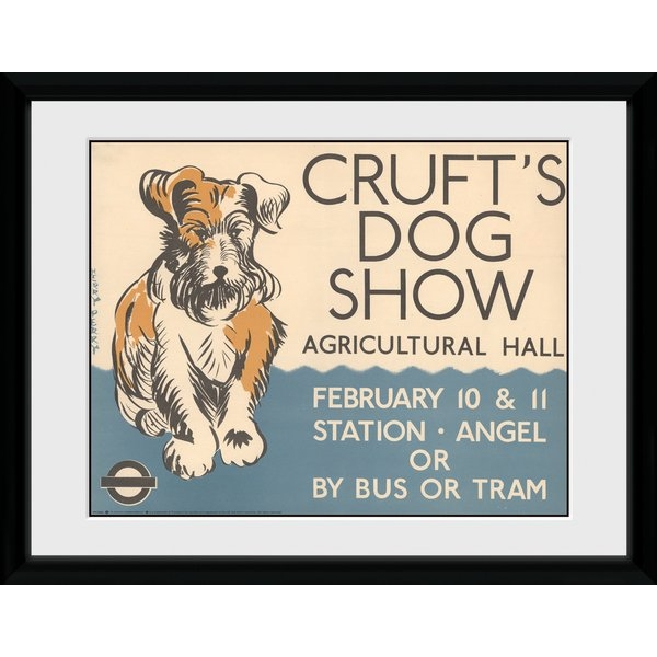 """Transport For London Crufts 12"""" x 16"""" Framed Collector Print"""