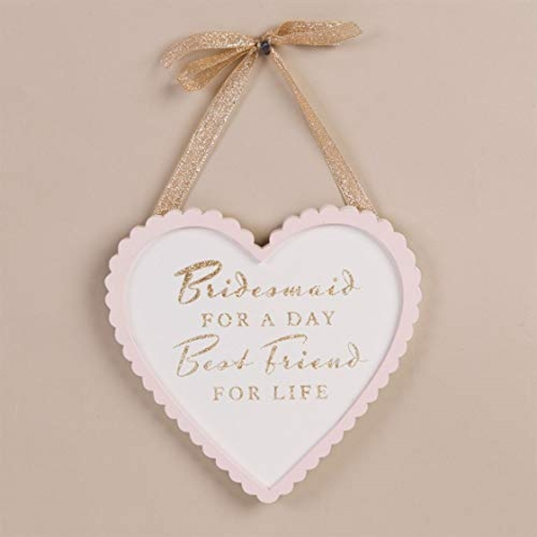 AMORE BY JULIANA? Heart Plaque - Bridesmaid & Best Friend