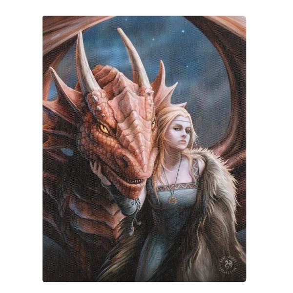 Friend or Foe Canvas by Anne Stokes