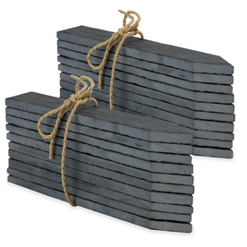 Set of 20 Slate Garden Markers & Chalk | M&W