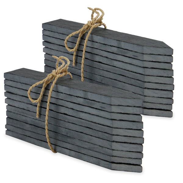 Set of 20 Slate Garden Markers & Chalk | M&W - Image 1