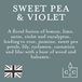Sweet Pea & Violet (Pastel Collection) Glass Candle - Image 3