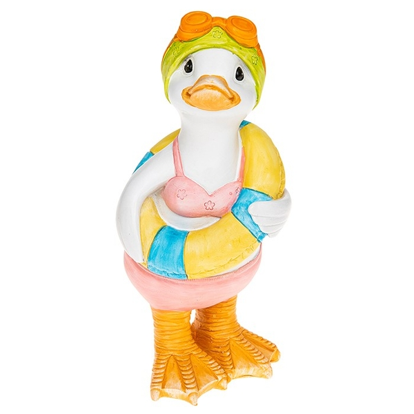 Lido Duck Standing Rubber Ring Ornament