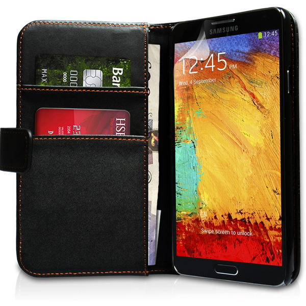 YouSave Accessories Samsung Galaxy Note 3 Leather-Effect Wallet Case - Black