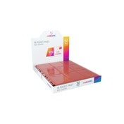 Gamegenic Sideloading 18-Pocket Pages - 50 Sheets Included - Red