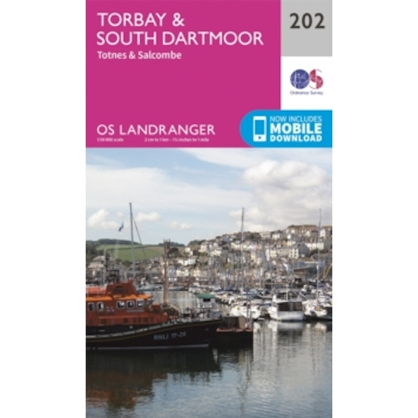 Torbay & South Dartmoor, Totnes & Salcombe by Ordnance Survey (Sheet map, folded, 2016)