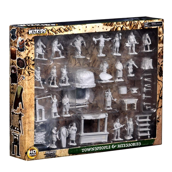Dungeons & Dragons Deep Cuts Unpainted Miniatures Townspeople and Accessories