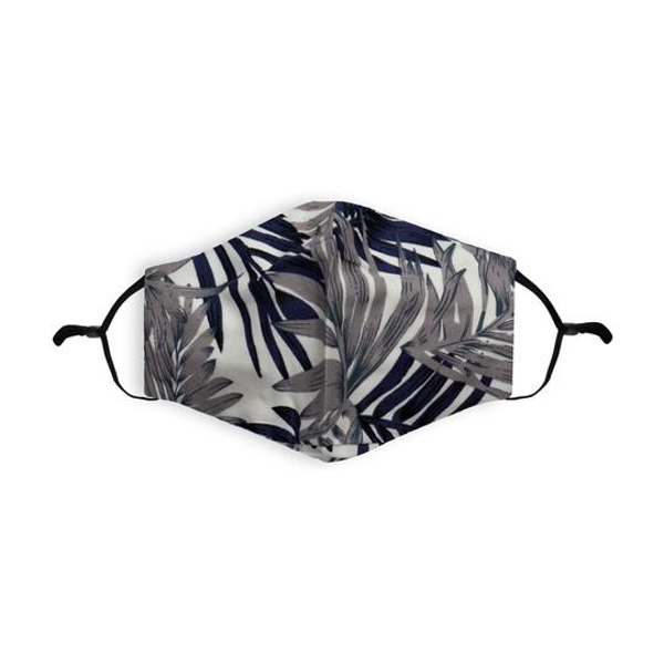 Grey Palm Printed 100% Cotton Face Mask