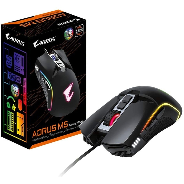 Gigabyte Aorus M5 16000dpi RGB Fusion USB Wired Gaming Mouse