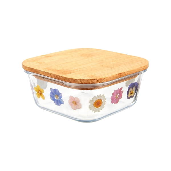 Sass & Belle Small Pressed Flowers Glass Storage Box