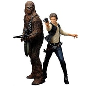 Kotobukiya Star Wars Han Solo and Chewbacca ArtFx+ Statute