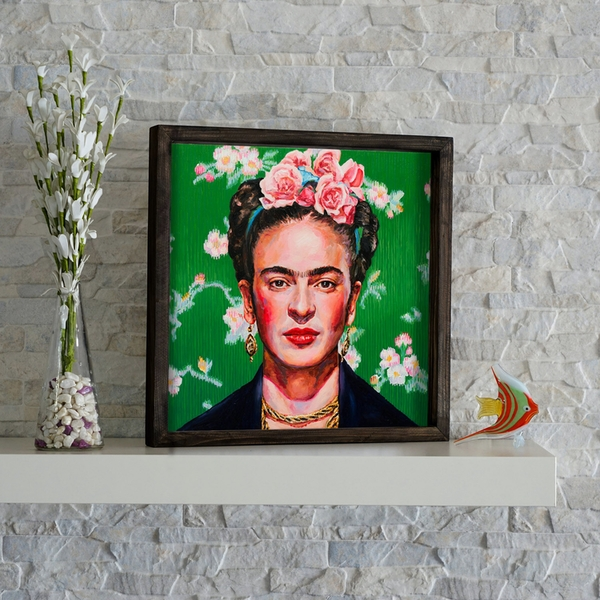 KZM214 Multicolor Decorative Framed MDF Painting